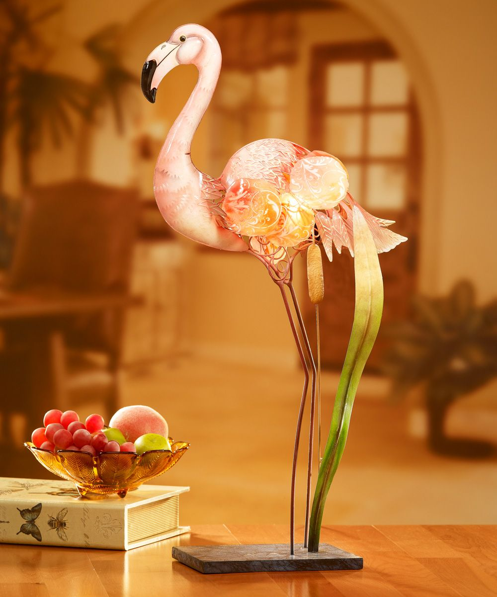 DecoBreeze Flamingo Capiz Shell Lamp | zulily