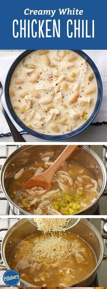 Creamy White Chicken Chili: In nur 30 Minuten können Sie de ... -
