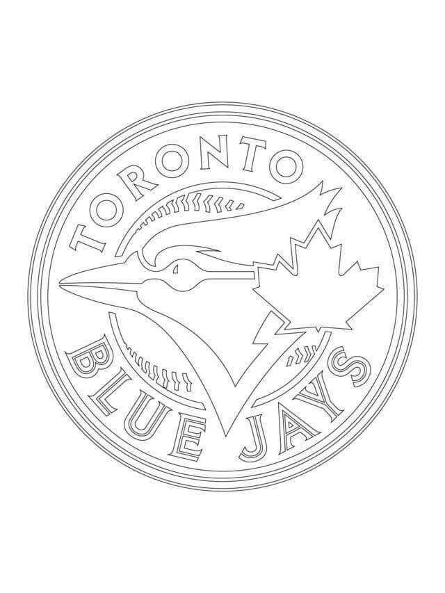 Major League Baseball Mlb Coloring Pages Toronto Blue Jays Logo Baseball Coloring Pages Blue Jays