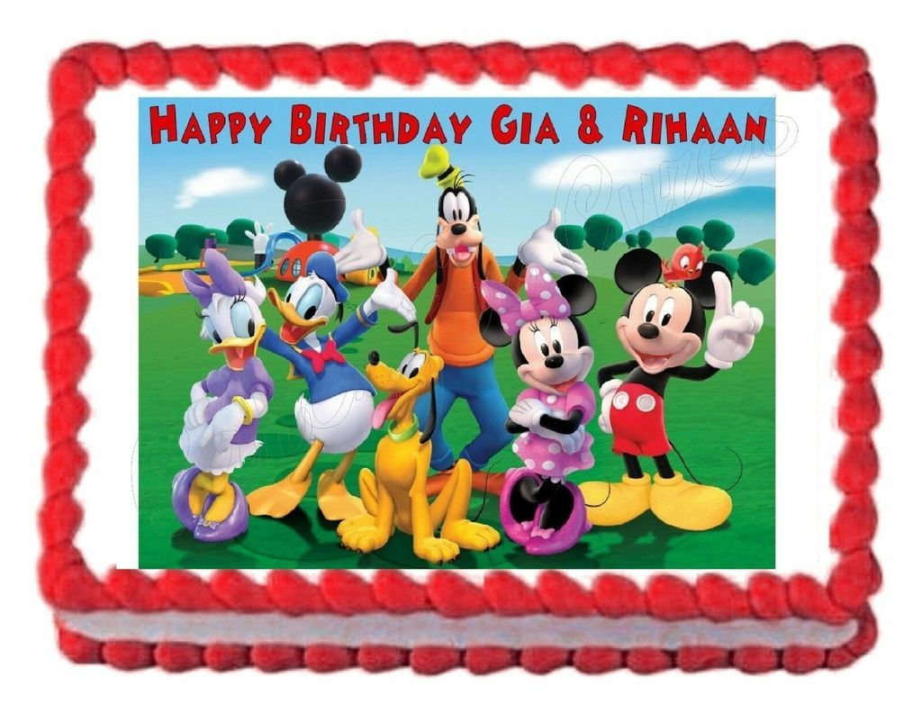 Mickey Mouse Clubhouse Edible Party Cake Image Topper Frosting Icing Sheet