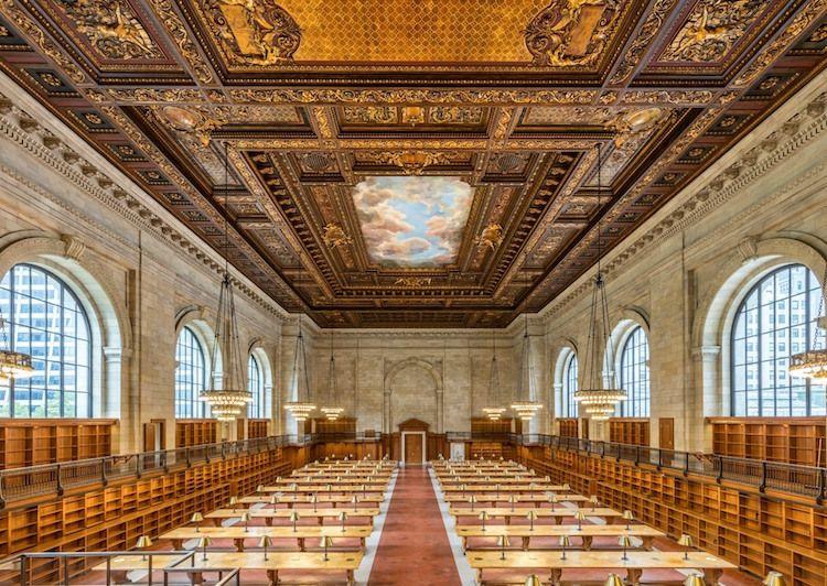 Une somptueuse salle de lecture de la  New York Public Library enfin restaurée - http://www.2tout2rien.fr/une-somptueuse-salle-de-lecture-de-la-new-york-public-library-enfin-restauree/