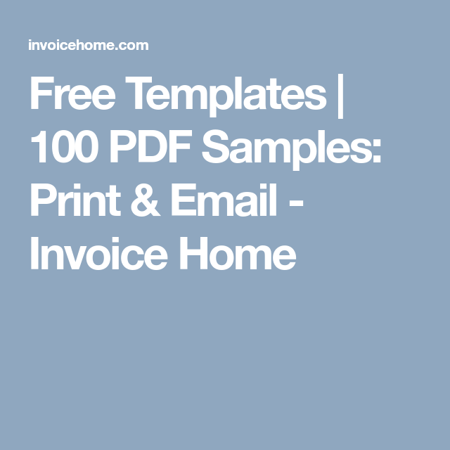 free templates 100 pdf samples print email invoice home
