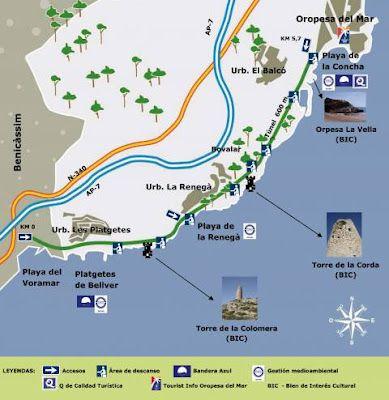 Vía Verde Oropesa Del Mar Benicàssim Castellón Oropesa Del Mar Lugares De España Viajes