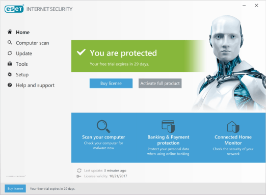 serial eset internet security 11