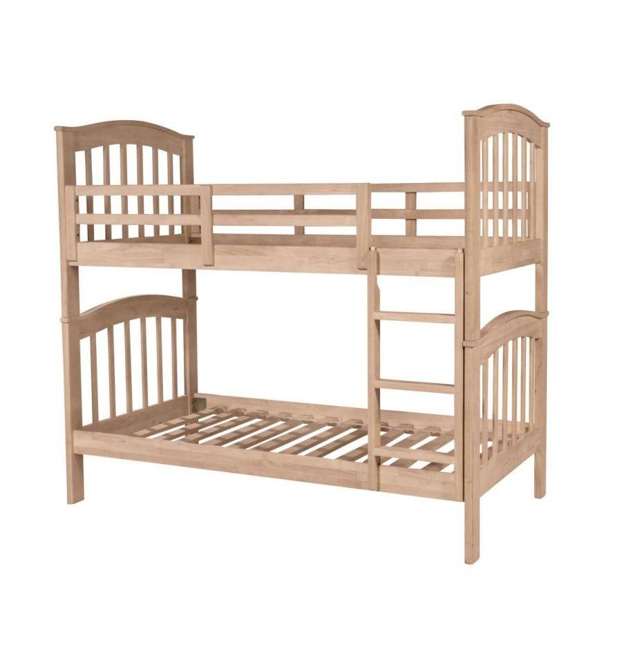 Hardwood Bunk Bed In 2018 Unfinished Furniture Pieces Pinterest