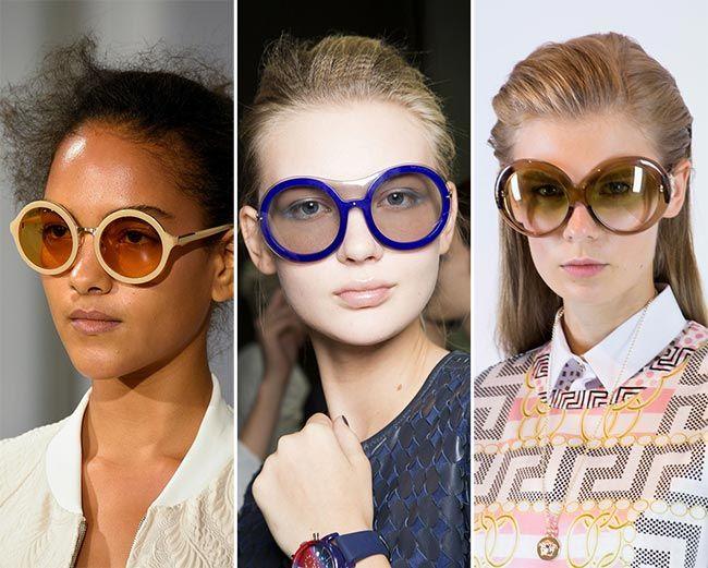 cb2228abdaba Spring/ Summer 2015 Eyewear Trends: Round Sunglasses Eyewear Trends, 2015  Fashion Trends,