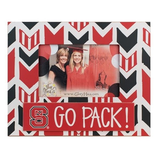 Glory Haus 'Collegiate Arrow' Frame (€21) ❤ liked on Polyvore featuring home, home decor, frames, north carolina state, arrow home decor and glory haus