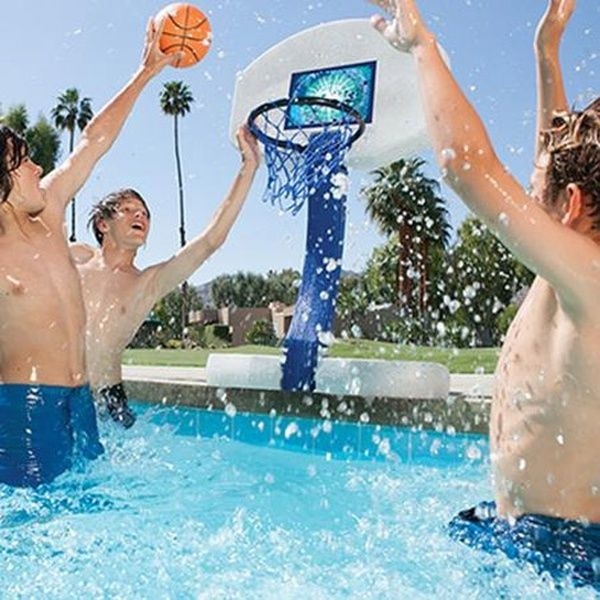 Swimways 2 In 1 Volleyball And Basketball Swimming Pool Water Game Set 00381 Swimming Pool Games Pool Basketball Swimming Pool Water
