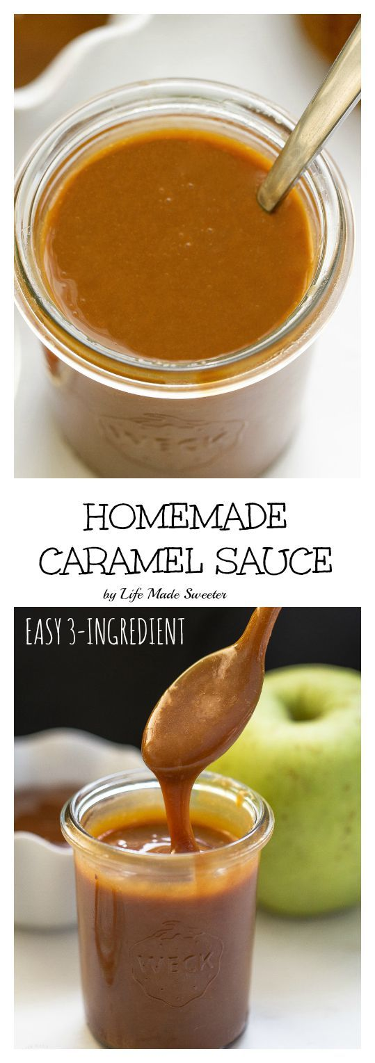 Homemade Caramel Sauce is easy to make with just 3 ingredients!