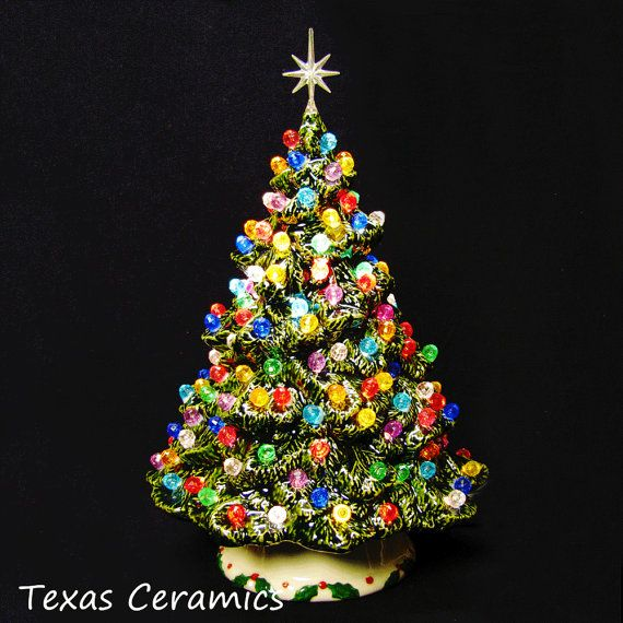 Shenandoah Pine Tree Ceramic Christmas Tree 10 Inch Tall with ...
