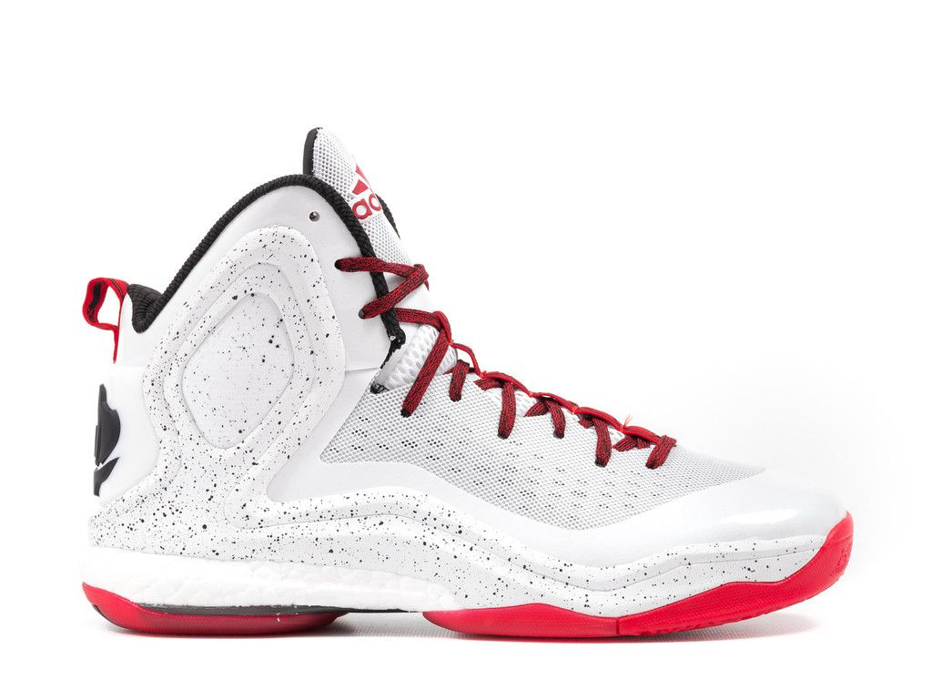 ADIDAS D ROSE 5 BOOST - WHITE / RED