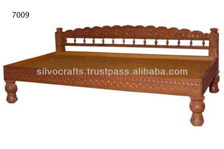 Hand Carved Teak Wooden Sofa Diwan
