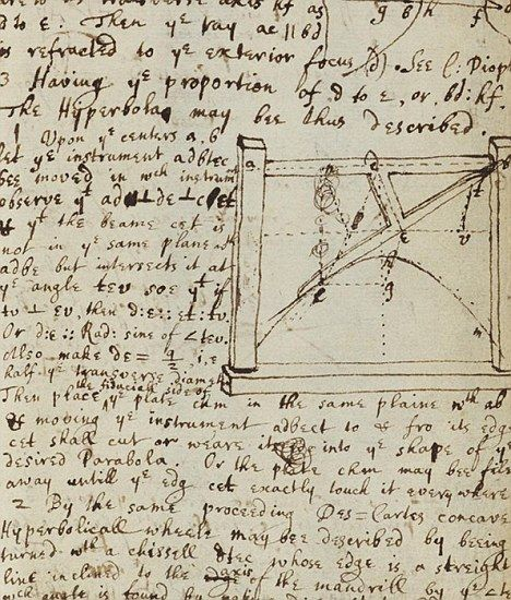 Sir Isaac Newton's handwritten notes about momentous
