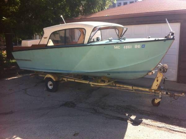 Hardtop cruiser Vintage 18ft 1958 Botved Coronet-my dream boat for the lake! | Lake Time ...