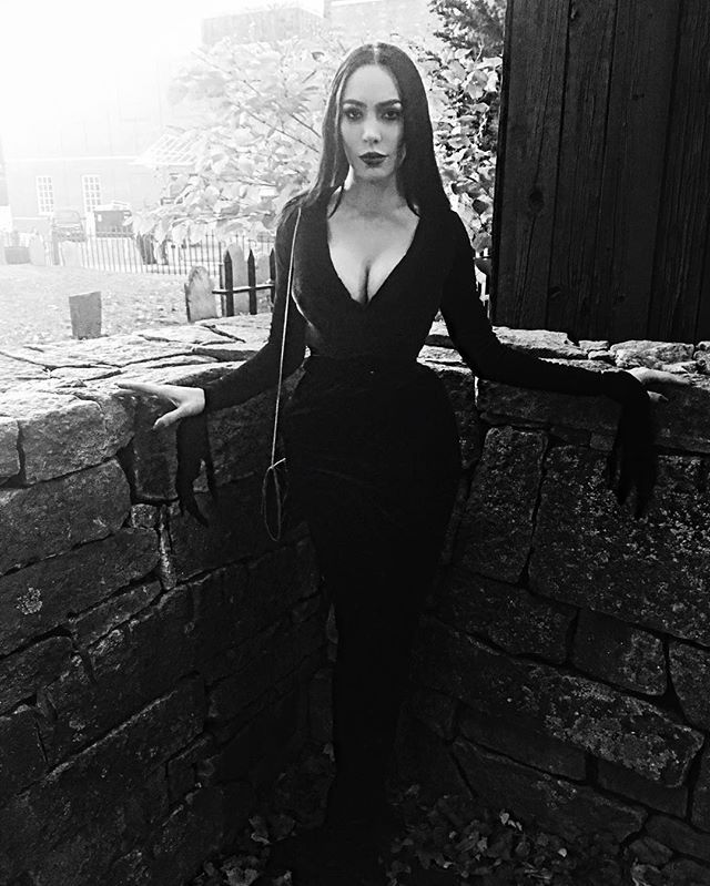 374915af688 Black is such a happy color. 💀 #salem #salemmassachusetts #halloween  #michelinepitt #morticia #morticiaaddams #addamsfamily