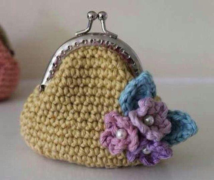 Şirin cüzdan crochet Pinterest Monederos, Bolsos y Tejido