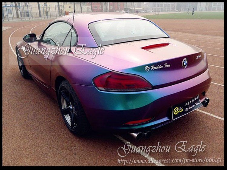 Chameleon Gloss Finish Vinyl Film Wrap Color Changing Car