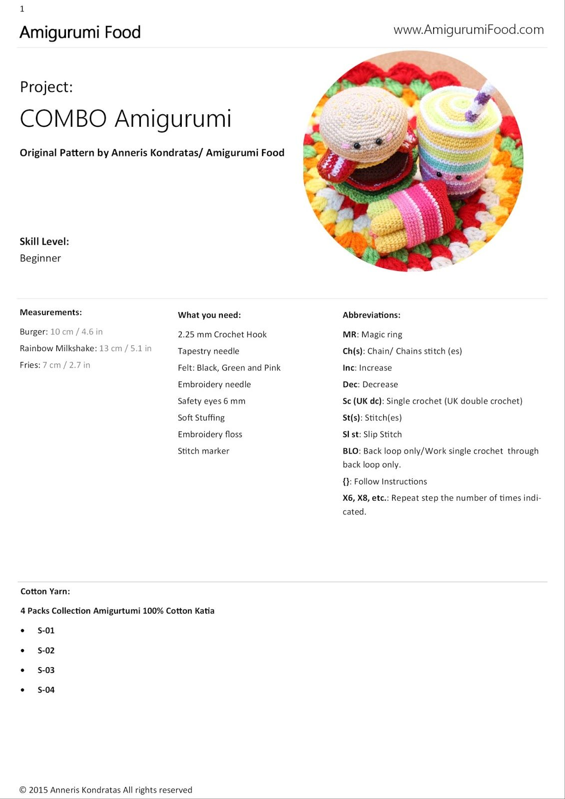 amigurumi food crochet free pattern animals patrones gratuitos ...