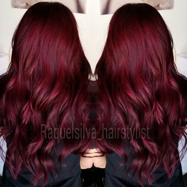 Burgundy Hair Inspiration With Reference To Light Purple Color