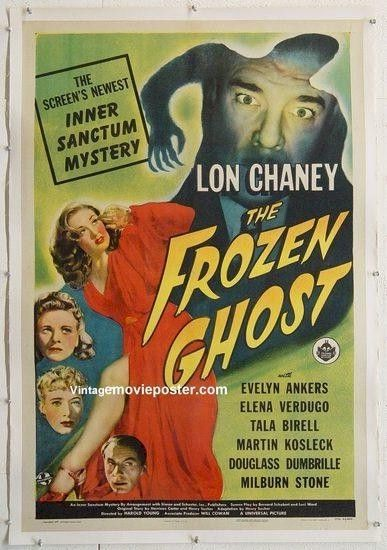 vintage horror movie posters | Lon Chaney vintage Horror movie posters