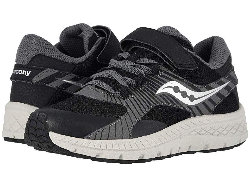 93ce203d52 Saucony Kids S-Velocer A/C (Little Kid/Big Kid) Boys Shoes Black ...