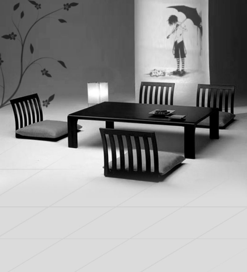 Dining Tables Mango Wood Low Height Four Seater Dining Set Pepperfry Dining Room Small Dining Furniture Japanese Dining Table