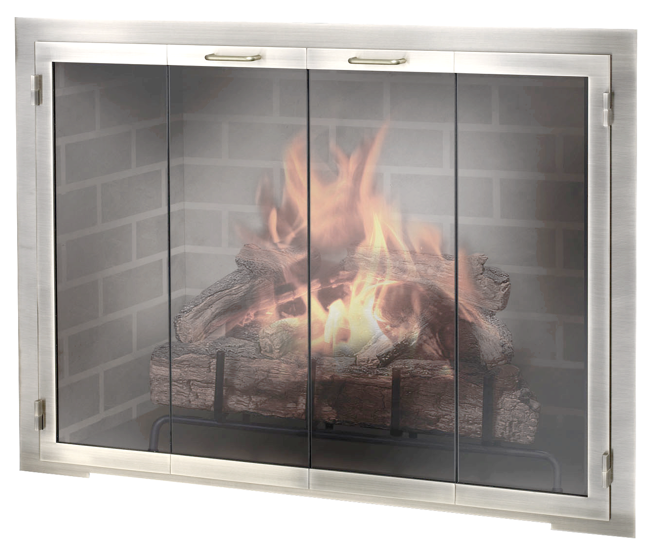 Stainless Steel Outdoor Masonry Fireplace Door | Fireplace doors ...