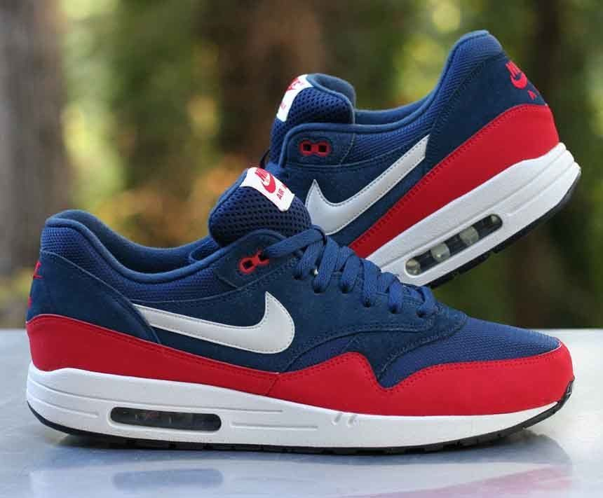new style 1fe7d 0f60d Nike Air Max 1 Essential Midnight Navy University Red 537383-400 Men s Size  13  Nike  RunningCrossTraining