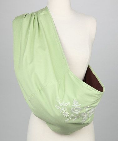 Take A Look At This The Peanut Shell Green Elise Heirloom Sling By