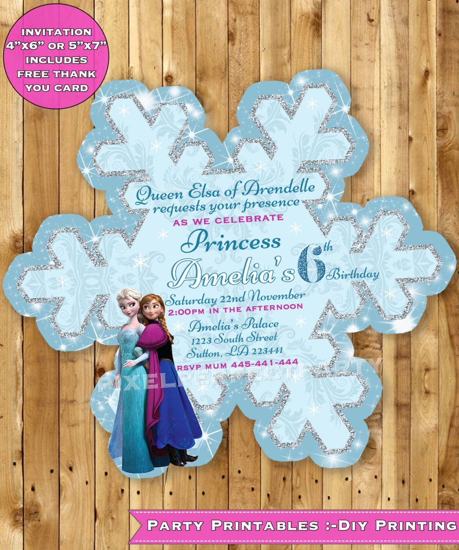 Especial Printable Frozen Birthday Invitations This Design