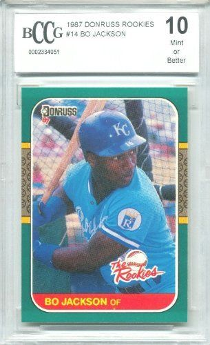 1987 Donruss Rookies Bo Jackson Rookie Card Graded Bccg 10