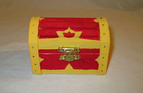Kingdom Hearts Inspired Treasure Chest Trinket Jewelry Box Trinket Boxes Treasure Chest Kingdom Hearts