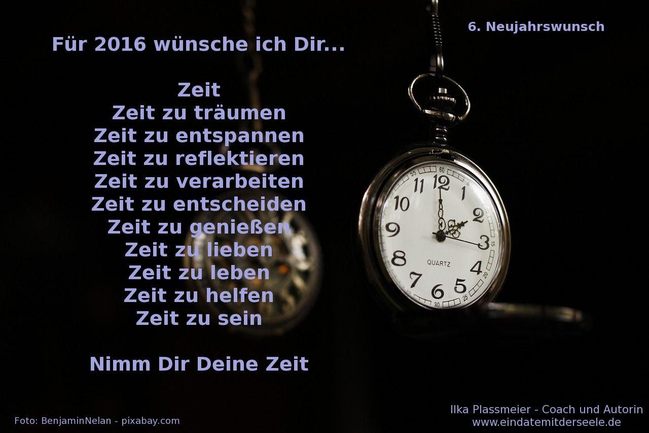Meine Neujahrswünsche für Dich (6/10): Für 2016 wünsche ich Dir ...