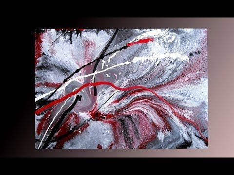 Abstract Art Painting Fluid Acrylic Painting By Brigitte Konig