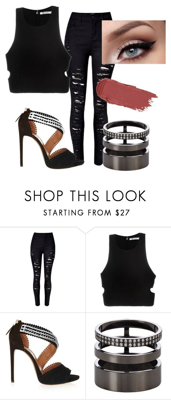"""Untitled #471"" by lock-and-key21 ❤ liked on Polyvore featuring T By Alexander Wang, Alaïa and Repossi"