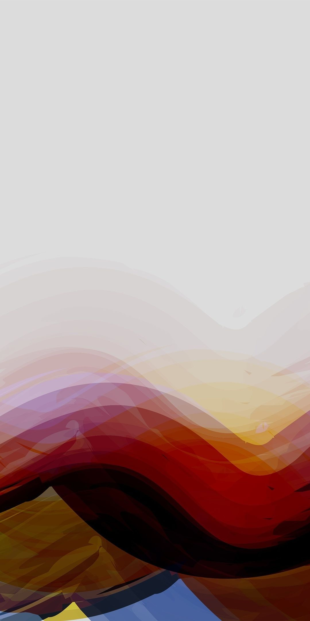 Waves of colors, abstract, multi-colors, artwork, 1080x2160 wallpaper