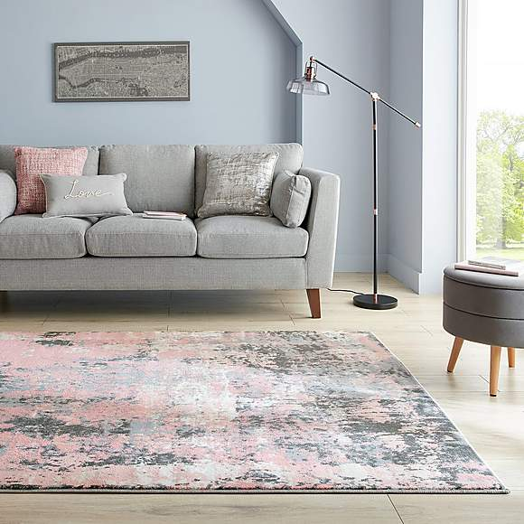 Fusion Abstract Blush Rug Blush Rug Blue And Pink Living Room Gray Rug Living Room