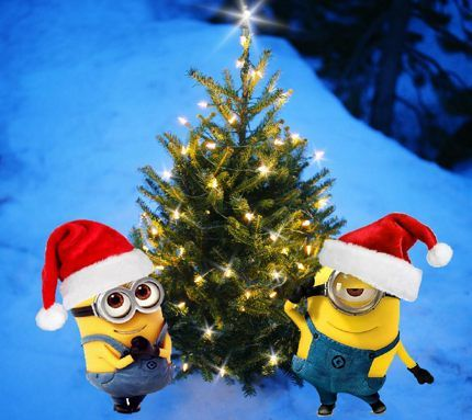 Merry Christmas Minions With Images Minion Christmas Merry