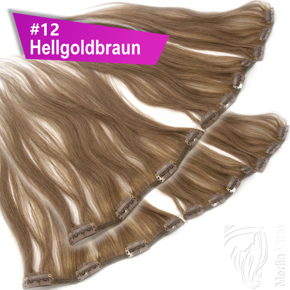 Clip In Extensions Clip On Haarteile 40 Cm 45 Cm 60 Cm Indisches