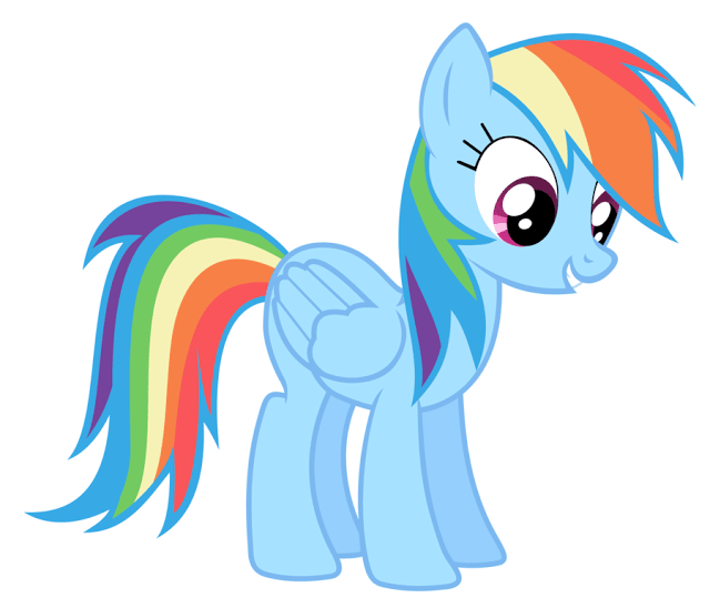 Aneka Gambar Mewarnai Gambar Mewarnai Rainbow Dash Untuk Anak