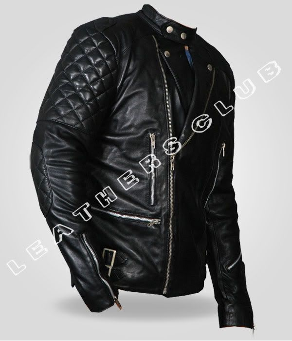 3c6f158d76b89d Mens  BRANDO  Vintage Motorcycle Classic Slim Bikers Leather Jacket ...
