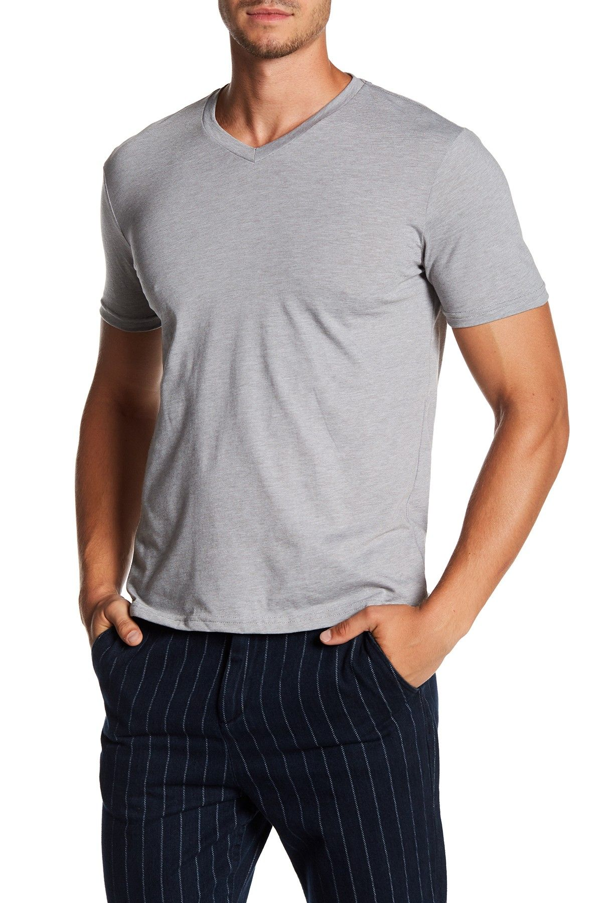 6f90703f8 Short Sleeve Fineline V-Neck Tee Mens Fashion Suits, Men's Fashion, Public  Opinion