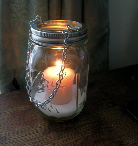 Hanging Mason Jar Lanterns Mason Jar Lantern How To DIY Wedding