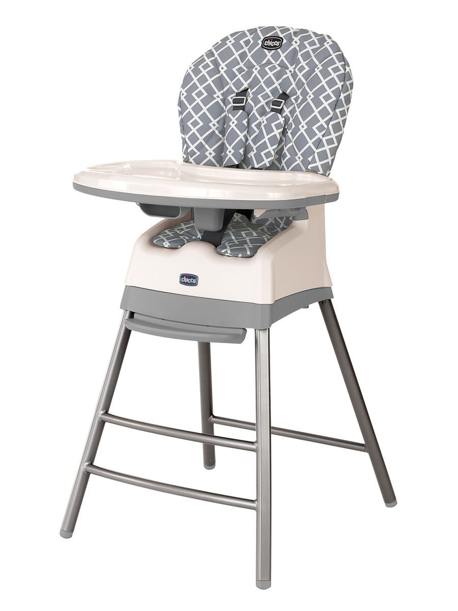 The Chicco Stack Highchair In Sophisticated Earl Grey Grows With