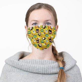 Chibi Heroine Dance Pattern Adult Cloth Face Mask