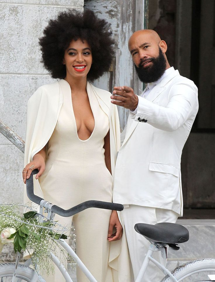 Solange Knowles looking happy on her wedding day #QWLoves