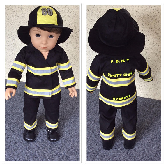 Fireman Outfit with Hat for American Girl Boy Dolls