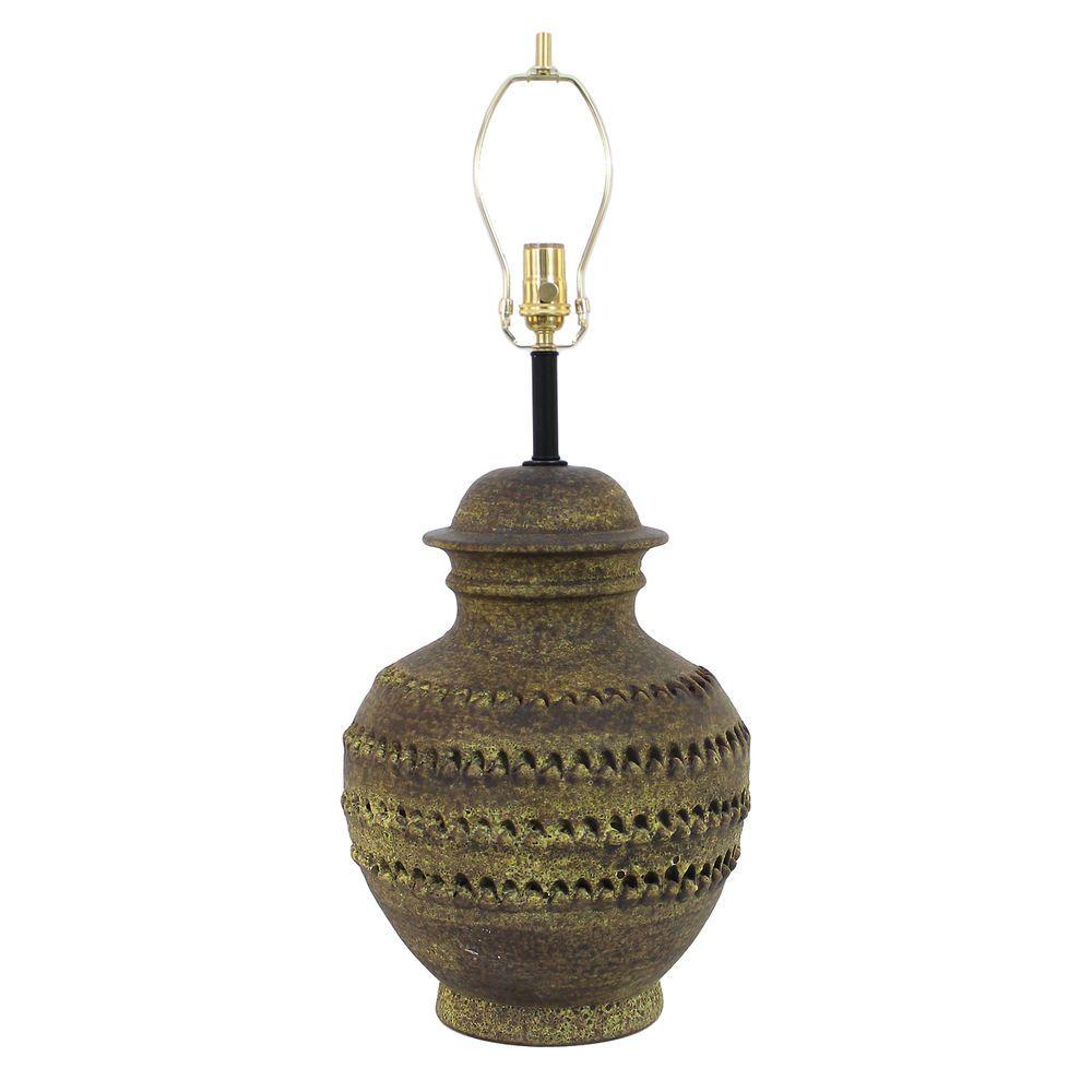 Vintage Alvino Bagni For Raymor Pottery Table Lamp Mid Century Modern Bitossi Pottery Lamp Italian Pottery Glazes For Pottery