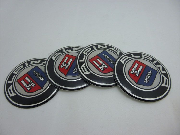 Free Shipping cur thing 4pcs/lot 56.5mm or 64.5mm ALPINA Wheel Center Cap Stickers 2.22inth or 2.54inth ALPINA Wheel hub caps $11.96