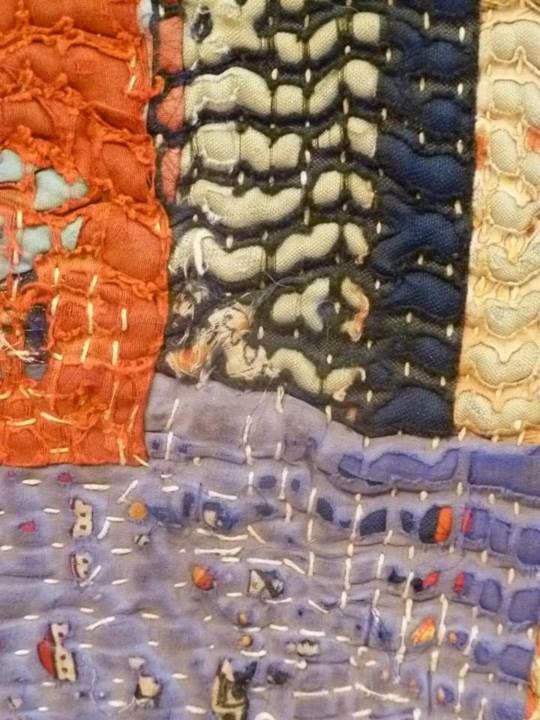Textile fair - sanded away layers of fabric